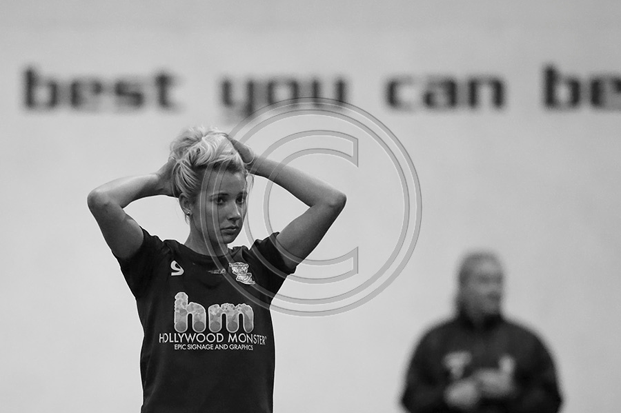 Kirsty Linnett of Birmingham City Ladies FC at the teams first pre-season training in January 2014