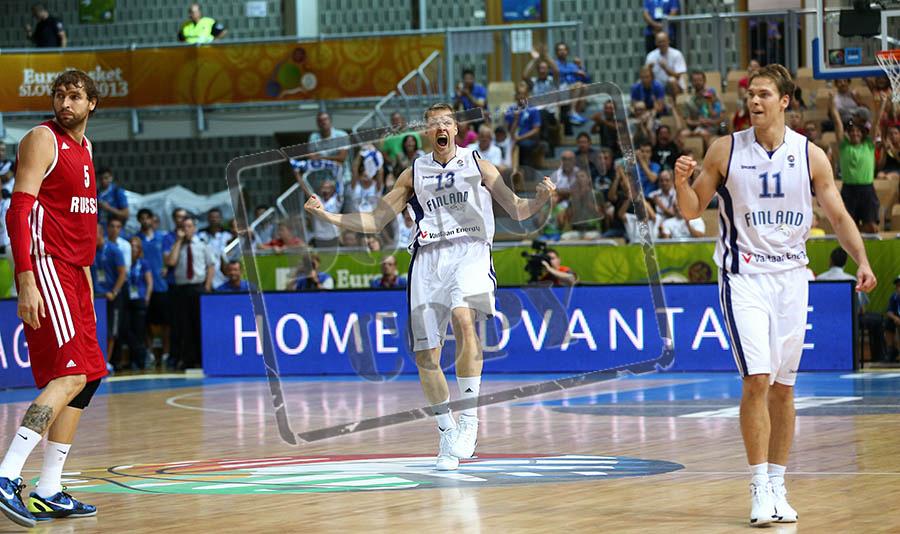 Game Day 04 - Finland vs Russia - Koper, Slovenia / EuroBasket 2013 / 08/09/2013 / Bonifika Arena, Koper, Slovenia / © Ville Vuorinen / NO UNPAID USE ALLOWED